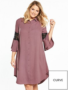 lost-ink-curve-lost-ink-curve-shirt-dress-with-lace-insert