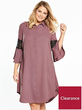 lost-ink-plus-lost-ink-curve-shirt-dress-with-lace-insert