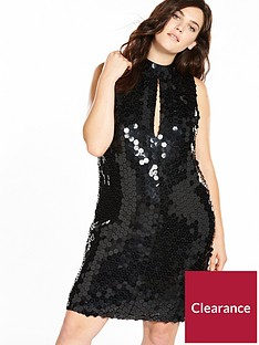 lost-ink-plus-premium-mini-dress-in-geo-sequins-black
