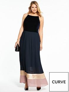 lost-ink-curve-lost-ink-curve-maxi-dress-with-colourblock-hem