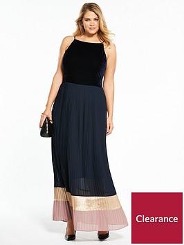 lost-ink-plus-lost-ink-curve-maxi-dress-with-colourblock-hem