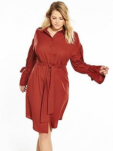 lost-ink-curve-shirt-dress-with-fluted-cuff