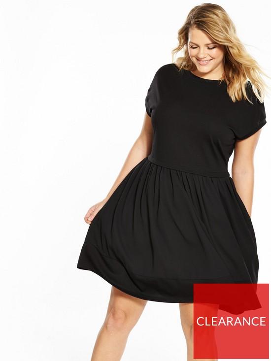 2122b80d8d Lost Ink Plus Swing Dress with Chiffon Hem