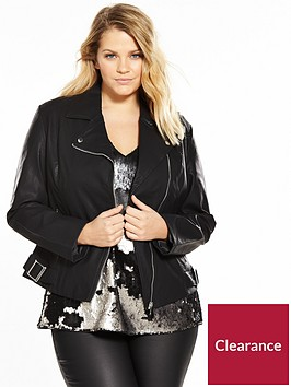 lost-ink-plus-biker-jacket-with-asymmetric-zip-black