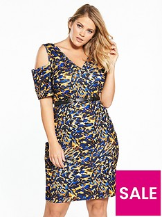 lost-ink-curve-lost-ink-curve-bodycon-dress-in-graphic-animal-with-belt