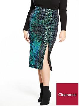 lost-ink-plus-sequin-pencil-skirt-navy