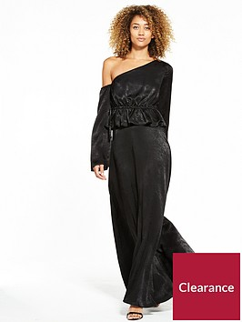 lost-ink-one-shoulder-maxi-dress-black