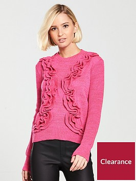 lost-ink-3d-ruffle-jumper-pink