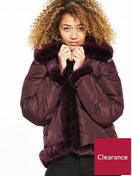 lost-ink-faux-fur-trim-padded-jacket-burgundy