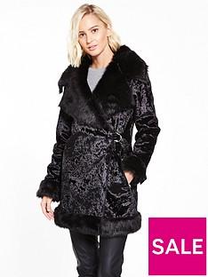 lost-ink-velvet-shearling-d-ring-coat-black