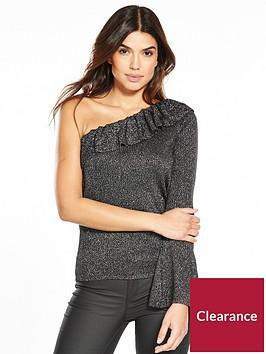 v-by-very-asymmetric-one-shoulder-frill-metallic-jumper