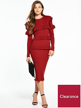 v-by-very-frill-detail-ribbed-knitted-dress
