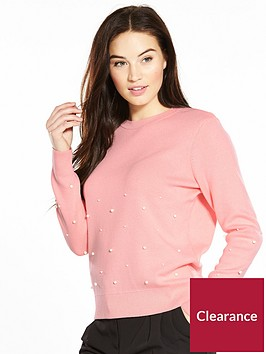 v-by-very-pearl-embellished-jumper