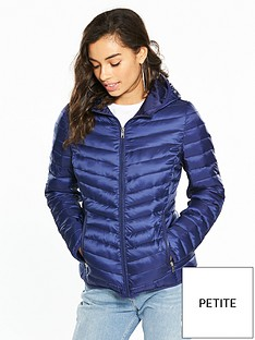 v-by-very-petite-lightweight-padded-coat-navy