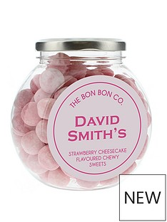 personalised-bon-bon-sweet-jars-strawberry-cheesecake