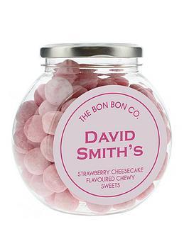 personalised-bon-bon-sweet-jars-strawberry-cheesecake