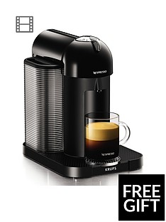 Nespresso XN901840 Vertuo Coffee Machine by Krups - Black