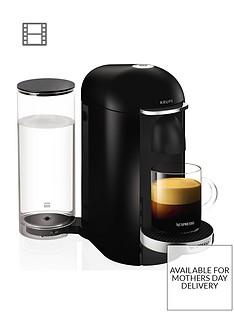 Nespresso XN900840Vertuo Plus Coffee Machine by Krups-Piano Black