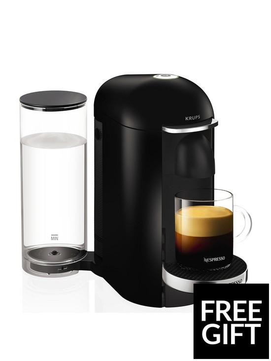 Xn900840 Vertuo Plus Coffee Machine By Krups Piano Black
