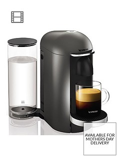 Nespresso XN900T40Vertuo Plus Coffee Machine by Krups- Titanium