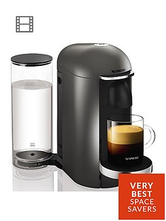 Nespresso XN900T40 Vertuo Plus Coffee Machine by Krups - Titanium