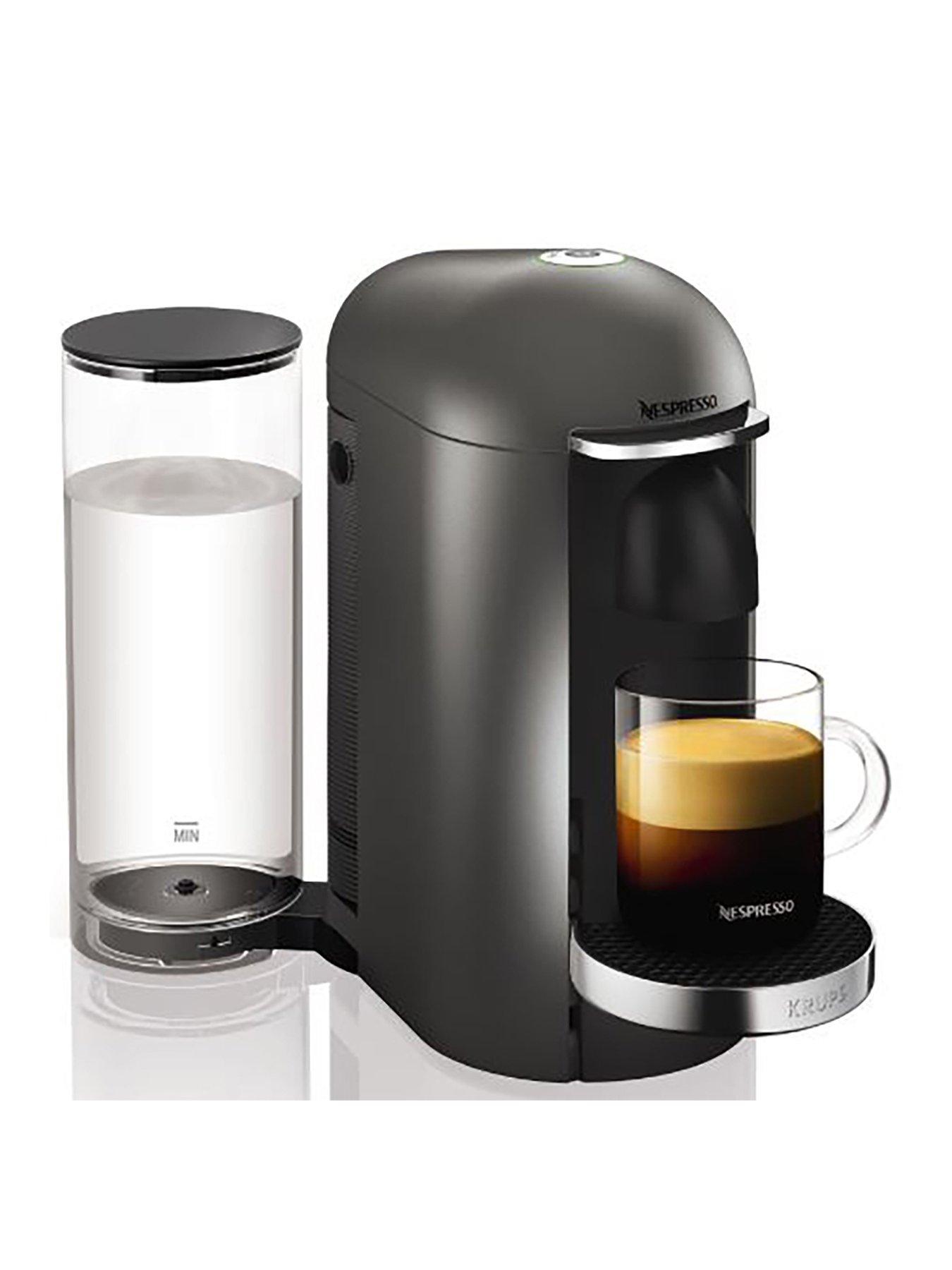 Captivating Nespresso XN900T40 Vertuo Plus Coffee Machine By Krups   Titanium Idea