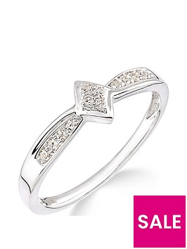 love-gold-9ct-white-gold-10-point-diamond-cluster-ring-with-diamond-set-band
