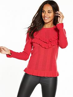v-by-very-pointelle-stitch-frill-jumper-red