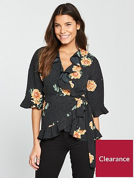 v-by-very-floral-wrap-top