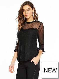 v-by-very-spot-mesh-yoke-lace-top-black