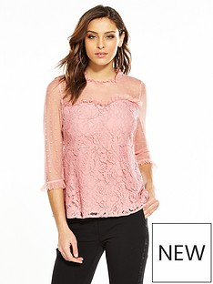 v-by-very-spot-mesh-yoke-lace-top-rose-pink