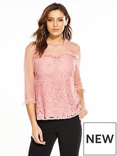 v-by-very-spot-mesh-yoke-lace-top-rose-pink