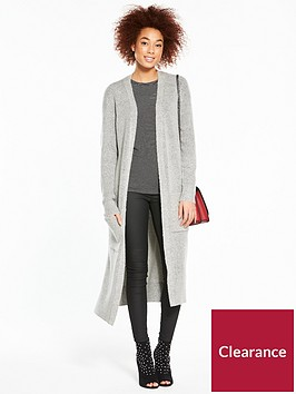 v-by-very-rib-detail-maxi-cardigan-grey