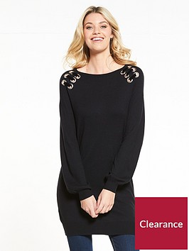 v-by-very-eyelet-lace-up-detail-tunic