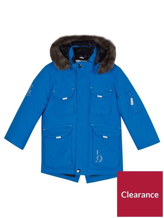 cdaa5bd35d00b5 ... Baker by Ted Baker Boys Blue Fleece Lined Parka very.co.uk first rate   Dimmer Blazer ...