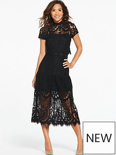 myleene-klass-scalloped-lace-midi-dress-black
