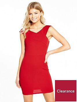 ax-paris-petite-cross-front-bardot-mini-dress-red
