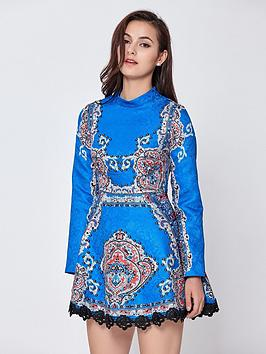 Comino Couture Long Sleeve Skater Dress