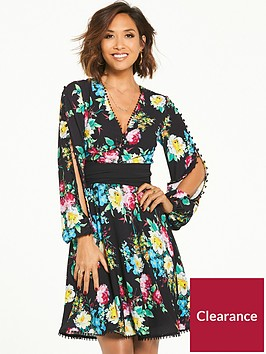 myleene-klass-button-sleeve-tea-dress