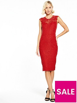 ax-paris-lace-midi-dress-rednbsp