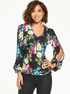 myleene-klass-button-sleeve-blouse