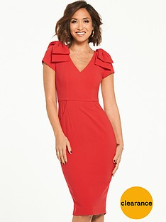 myleene-klass-bow-shoulder-pencil-dress-red
