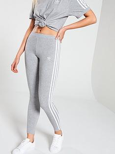 c752b01f63680 adidas Originals adicolor 3 Stripe Tights - Grey