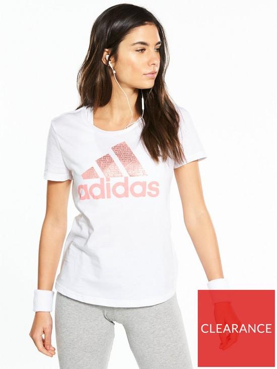 adidas Foil Text Tee - White  1a5a202e1fd2