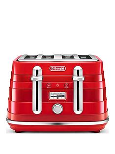 delonghi-avvolta-4-slice-toaster-red
