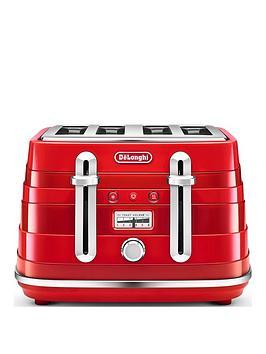 Delonghi Avvolta 4 Slice Toaster Red thumbnail