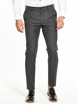 Tommy Hilfiger Tonal Check Suit Trouser - Charcoal thumbnail