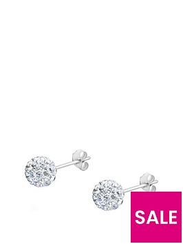the-love-silver-collection-sterling-silver-6mm-crystal-glitterball-studs