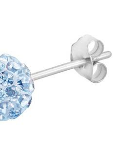 the-love-silver-collection-sterling-silver-crystal-glitterball-studs-6mm