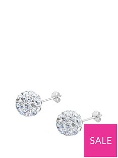 the-love-silver-collection-sterling-silver-crystal-glitterball-studs-10mm